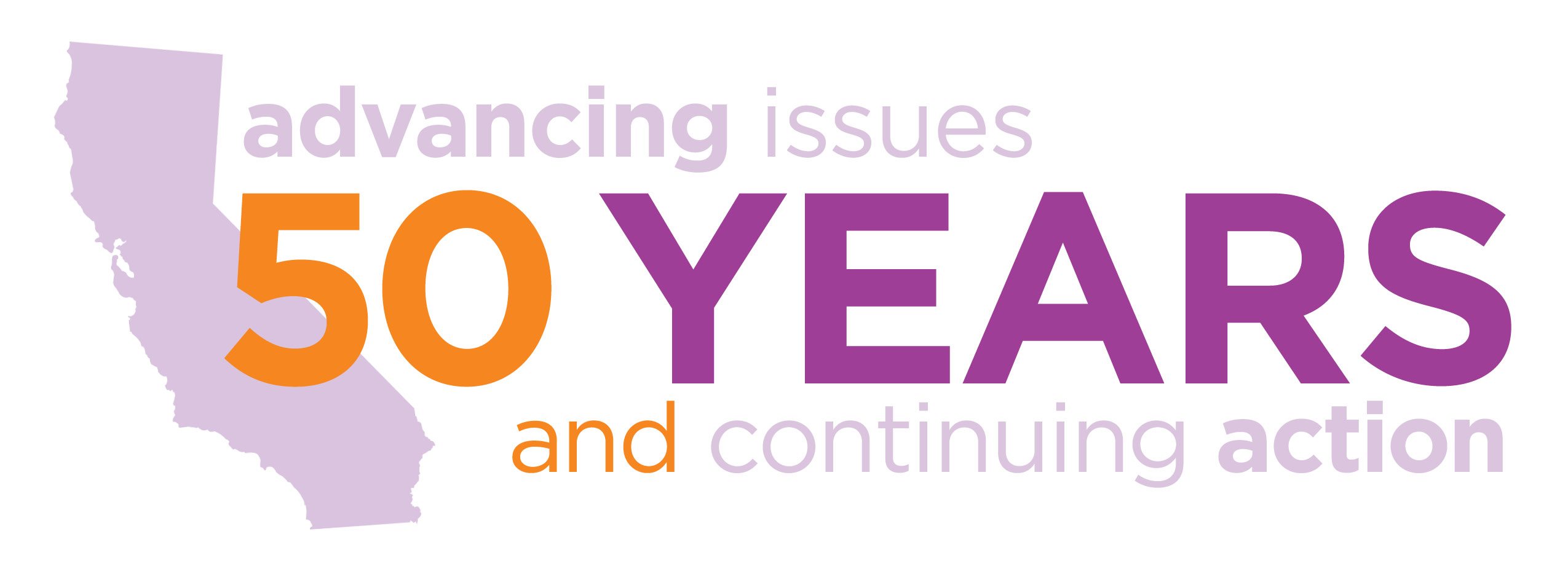 50 Years of advancing issues and continuing action