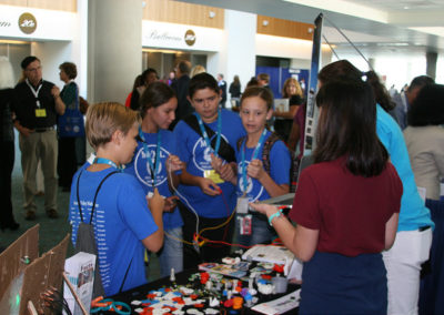 a group of children at the California STEAM Symposium