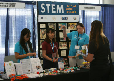 a booth a the California STEAM Symposium