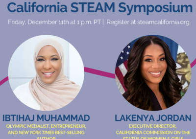 California STEAM symposium Ibtihaj Muhammad and Lakenya Jordan