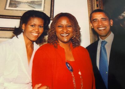 Holly J. Mitchell and Obamas
