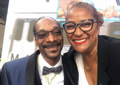 Holly J. Mitchell and Snoop Dogg
